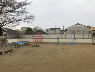 塀(園庭側)アフター