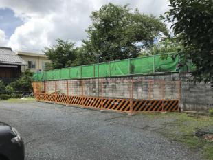 塀(駐車場側)ビフォー