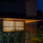 玄関廻り 夕景